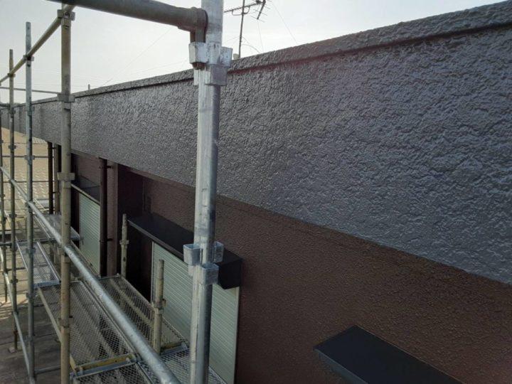 外壁パラペット 上塗り完成✨