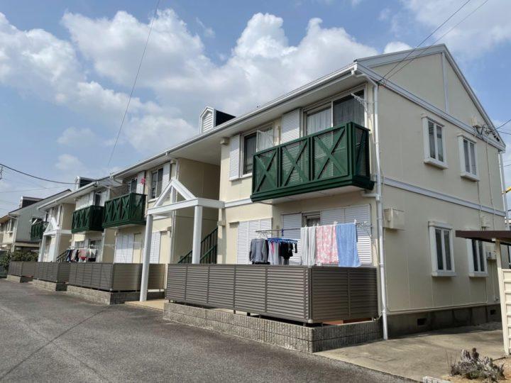 オーナー様よりアパートの屋根・外壁塗装御依頼!アイボリーにグリーンが映える!愛知県安城市 O様アパート|愛知県安城市、西尾市の塗り替え屋本舗 705