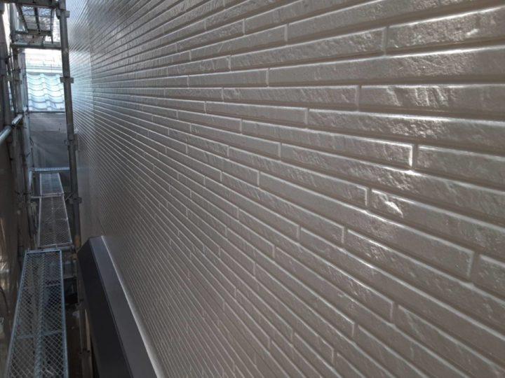 外壁塗装 上塗り✨完成✨
