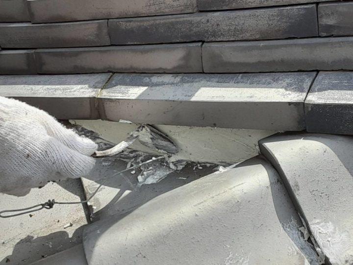 屋根漆喰補修