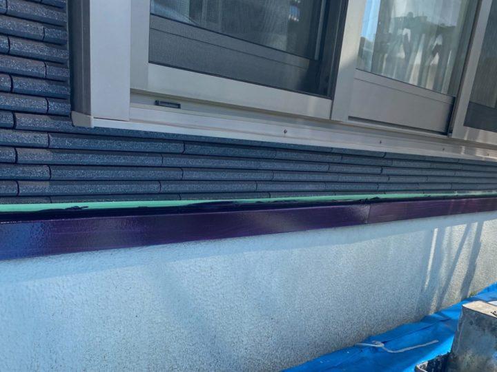 土台水切り 上塗り完成✨