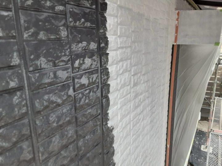 外壁塗装 1階中塗り